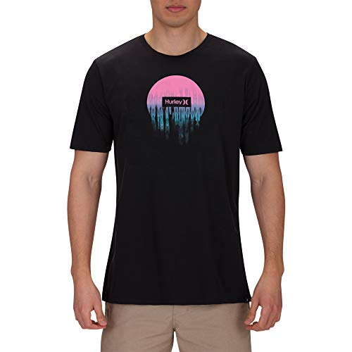 Hurley M PRM Smeared Out Ss Herren-T-Shirt M schwarz