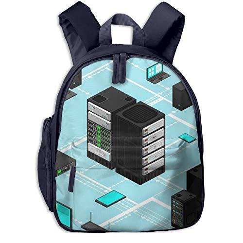 Kinderrucksack Kleinkind Jungen Mädchen Kindergartentasche Datendaten Netzwerkverwaltung Isometrisch Backpack Schultasche Rucksack
