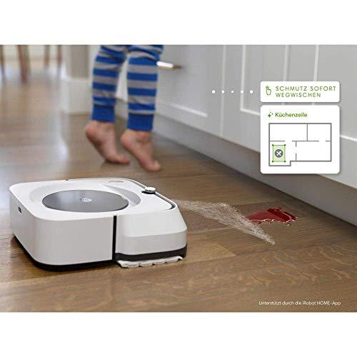 iRobot Braava m6 (m6134) Wischroboter mit WLAN, Präzisions-Sprühstrahl und erweiterter Navigation, Zeitplanreinigung, lernt und passt sich Ihrem Zuhause an, Nass- und Trockenwischen, App-Steuerung - 13