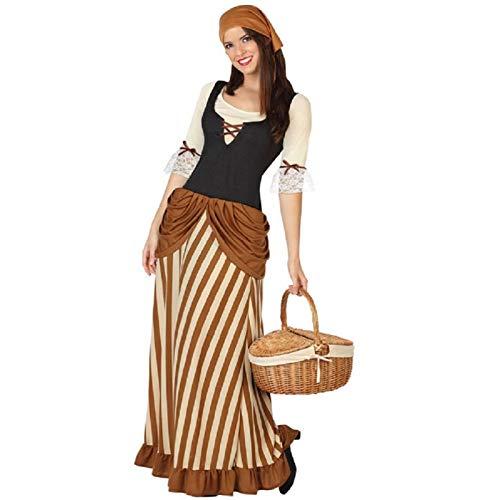 ATOSA disfraz mesonera mujer adulto marrón XXL