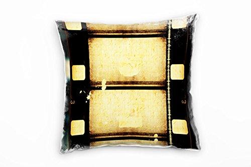 Paul Sinus Art Retro en Vintage, Macro, bruin, blauw, oude rol film decoratieve kussen 40x40cm voor bank bank bank lounge sierkussen - decoratie om je goed te voelen