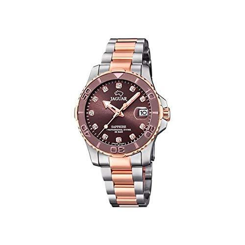 Reloj JAGUAR Executive SEÑORA, Swiss Made (Caja Acero-Bronce. Esfera Plata, Indice Rose)