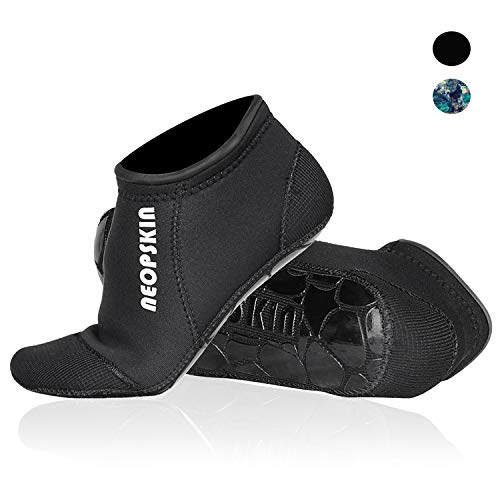 Neoprene Socks 3mm Beach Volleyball Sand Soccer Socks Water Booties Wet Shoes for Scuba Diving Swimming Surfing Snorkeling Fishing Wading Kayak (Black-Low Cut, S)