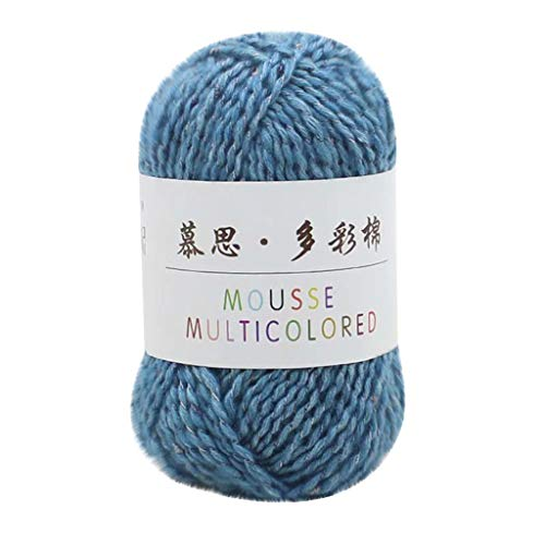DIY gewebtes Garn Handstricken Serria® 70% Baumwolle + 20% Acryl + 10% Polyester Kaschmir Linie handgestrickt in Baby Wolle Schal Linie feine Wolle