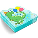 Servilletas con Dinosaurios para Fiestas de Cumpleaños, (15,9 cm x 15,9 cm, Paquete de 50)