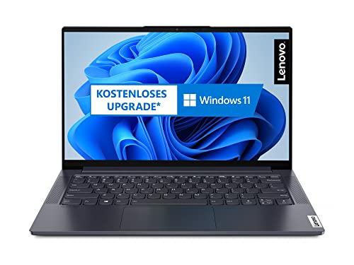 Lenovo Yoga Slim 7i 35,6 cm (14 Zoll, 1920x1080, Full HD, WideView, entspiegelt) EVO Slim Notebook (Intel Core i5-1135G7, 8GB RAM, 512GB SSD, Intel Iris Xe Grafik, Win 10 Home) grau inkl. Tasche