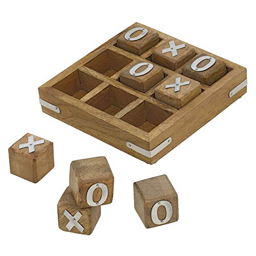 Handmade Wooden Tic Tac Toe Game for...