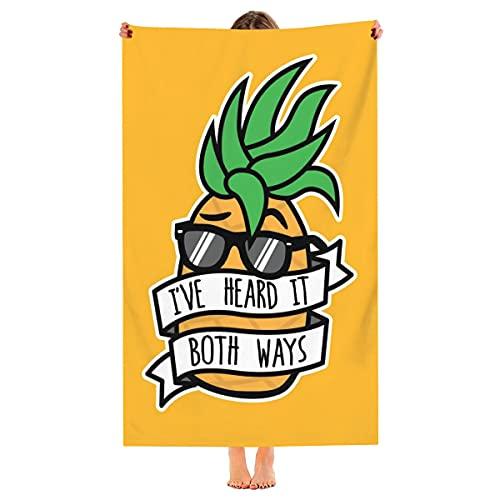 Toalla de playa de gran tamaño, de la marca I 've Heard It Both Ways, de microfibra, de secado rápido, toalla de piscina de viaje fresca