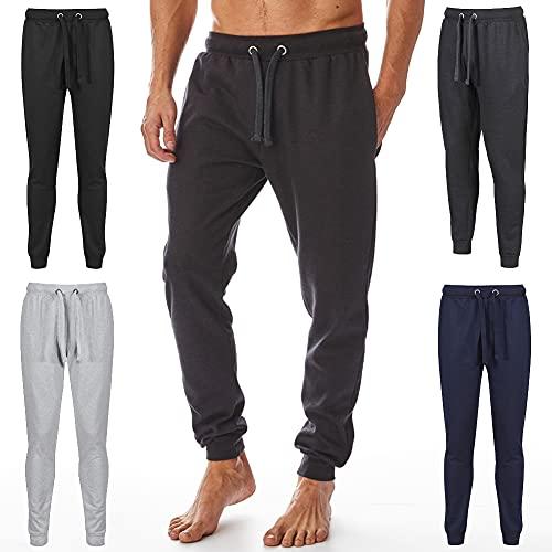 Iron Mountain Męska odzież robocza odzyskana przędza przyjazna dla środowiska zapobiegająca mechacaniu elastyczne wygodne spodnie do joggingu spodnie dresowe, węgiel Marl, 4XL
