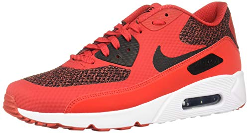 Nike Air Max 90 Ultra 2.0 Essential, Sneakers Basses Homme, Multicolore (University Red/Black/White 604), 44.5 EU