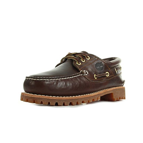 Timberland Authentics 3 Eye Classic, Náuticos para Hombre, Marrón Brown Pull Up, 43 EU