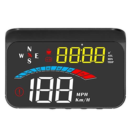 Coche HUD, Alarma de Exceso de Velocidad, Alfombrilla Antideslizante HD Head Up Display, función de Alarma Negra para proyector de Advertencia de Coche HUD