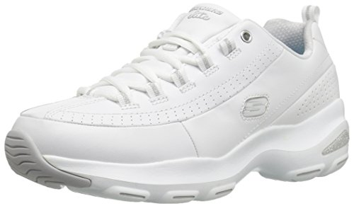 Skechers Go Step Lite Ultrasock Women Trainers ,White(White /Silver),5 UK(38 EU)