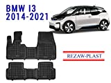 Floor Mats for BMW i3 I3 2013-2020 All Weather Rubber Liners Set 1st and 2nd Row Black Accessories