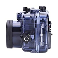 ソニーA6000用ダークブルー防水ハウジング、ポータブルカメラアクセサリー水中ハウジング、ソニーA6300