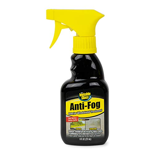 Invisible Glass 92472 8-Ounce Anti-Fog Car Defogger Glass Cleaner Spray for Automotive Interior Glass and Mirrors to Prevent Fogging and Improve Driving Visibility, Clear