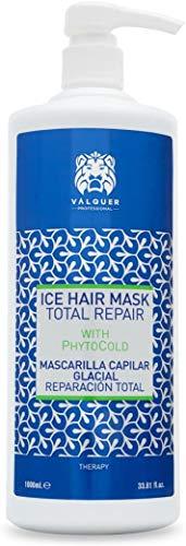Válquer Profesional Ice Hair Mask. Máscara Capilar Reparación Total. Sin sal, sin parabenos y sin sulfatos. Cabellos dañados y secos- 1000 ml