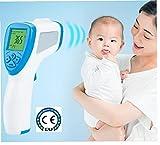 La frente Termómetro electrónico portátil digital No Touch termómetro infrarrojo con Instant lectura precisa de Adultos del Hospital de los niños del bebé para el cuerpo de la salud