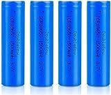 18650 Baterías Recargables 3.7 V ICR 1500 MAH Li-Ion Baterías de Alta Capacidad Lámpara Portátil Batería de Repuesto 1200 Ciclos Larga Vida-Lote de 4 Platos Altos