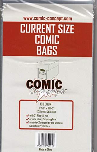 Unbekannt Comic Bags Current Size (100 Stück)