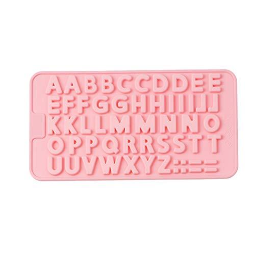 Mingtongli Großbuchstaben Fondant-Silikon-Form-Fertigkeit Schokolade Backform Kuchen, Küche Gebäckwerkzeug