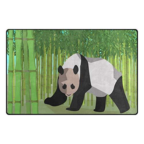 MNSRUU Aquarell Panda Bambus Teppich Anti-Rutsch-Fußmatte Fußmatte für Kinderzimmer, Wohnzimmer und Schlafzimmer, Textil, Multi, 50 x 80 cm(1.7\' x 2.6\' ft)