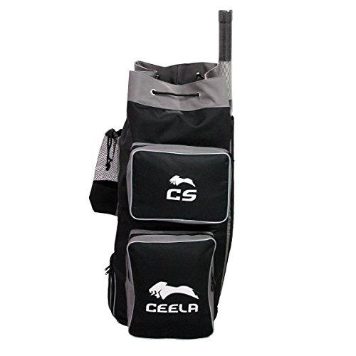 Ceela Sports Ceela_198 Polyester Cricket Duffle Bag (Black)
