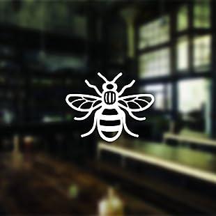 4 Manchester Bee Car Stickers Manchester Bee Sticker Decal Window Bumper Manchester Bee Sticker Phone Sticker