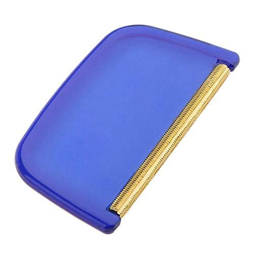 ampusanal Sweter grzebień sweter golarka tkanina usuwanie fuzz ręcznie robiona szczotka do włosów kula do usuwania kłaczków kaszmir narzędzie do czyszczenia gospodarstwa domowego z ergonomicznym plastikowym uchwytem niebieski 7838 cm duża wyprzedaż
