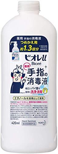 【12個セット】ビオレu 手指の消毒液 つめかえ用(約1.3回分) 420ml