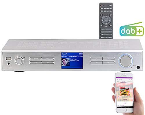 VR-Radio Netzwerkplayer: WLAN-HiFi-Tuner mit Internetradio, DAB+, UKW, Streaming, MP3, Silber (Netzwerk Radio)