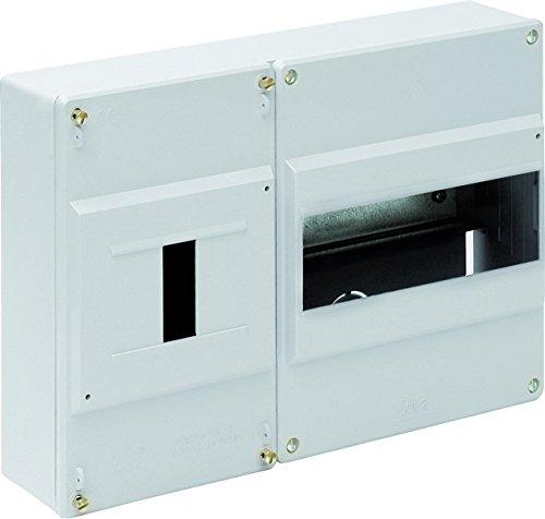 Solera 697 - Caja para ICP y distrib.Superficie.De 277x188x55.Distribución hasta 8 elementos.Marfil.