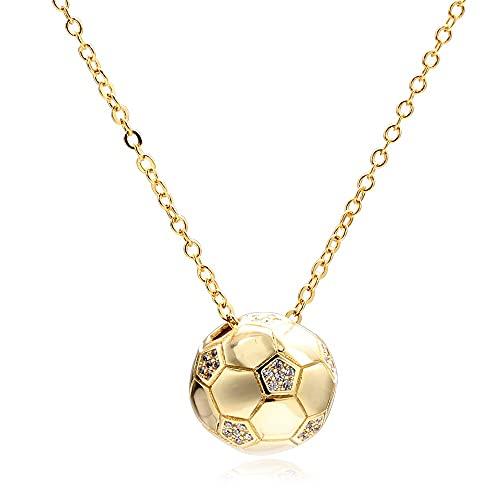 collar Moda Deportes Fútbol Collar Colgante Cadenas De Eslabones De Cristal Colgante De Fútbol Collar De Mujer Apto Para Fanáticos Atléticos