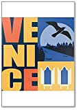 Imán para nevera de Venecia, Italia, ilustración de obras de arte modernas, para viajar a Venecia