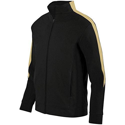Augusta Activewear Medalist Jacket 2.0, Black/Vegas Gold, Small