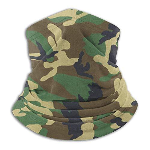 Woodland Camo - Máscara elástica multifuncional para el cuello, bufanda, resistente al viento y al polvo