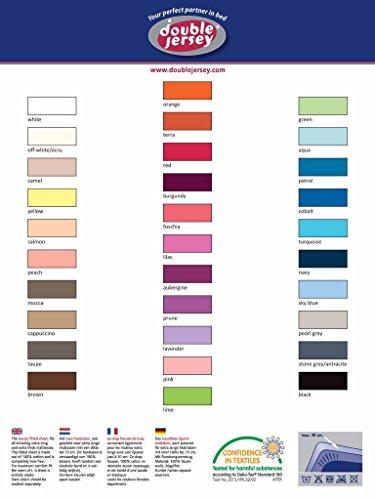 Double Jersey – Spannbettlaken 100% Baumwolle Jersey-Stretch bettlaken, Ultra Weich und Bügelfrei mit bis zu 30cm Stehghöhe, 160x200x30 Natur Weiss - 8