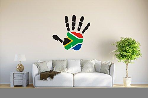Wandtattoo - CH - Fahne in der Hand - South Africa - Südafrika - 61x58 cm
