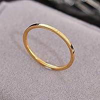 チタン製 リング 指輪 1.2mm 2.0mm ペア アレルギーフリー レディース メンズ マリッジリング Angel Luna(エンジェルルナ) color6 14号