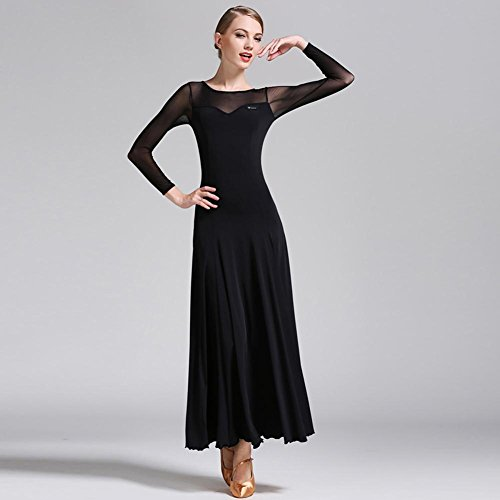 Wanson Standard Tanz Kleider Für Frauen Wettbewerb Waltz Tanzkleidung Mesh Spleißen Performance Kostüm