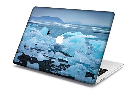 Old MacBook Air 13 Case Model:A1466/A1369,QiuHuiCase Plastic Shell Cover Only Compatible Release 2010-2017 Old MacBook Air 13 inch (No Touch ID) (Light blue series 6)