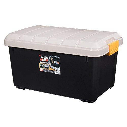 アイリスオーヤマ ボックス RVBOX 600 カーキ/ブラック 幅61.5×奥行37.5×高さ33cm