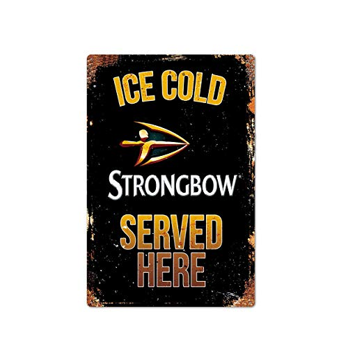 Xuanwuyi Metal Sign Strongbow Sign, Neighborhood Tavern, Tavern Decor, Cold Beer, Beer Lover Decor, Beer Drinking, Dads Man Cave, Man Cave - Metal Sign Vintage Style Garage