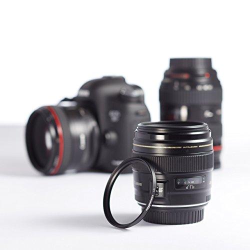 Panasonic Lumix DC-FZ82 Bridgekamera (18 Megapixel, 20 mm Weitwinkel, 60x Opt. Zoom, 4K30p Videoaufname, Hybrid Kontrast AF) schwarz & Amazon Basics UV-Sperrfilter - 55mm
