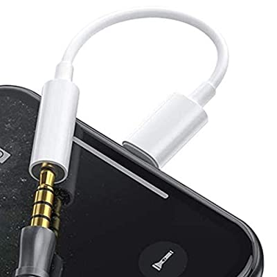 Headphones Adapter for iPhone 12, Earphones Jack Adaptor Dongle 3.5mm Charger Stereo Aux Cable for iPhone 7 Plus 8 Plus Xs Max XR 11 12 Mini 12 Pro Max no Call by Blkeer
