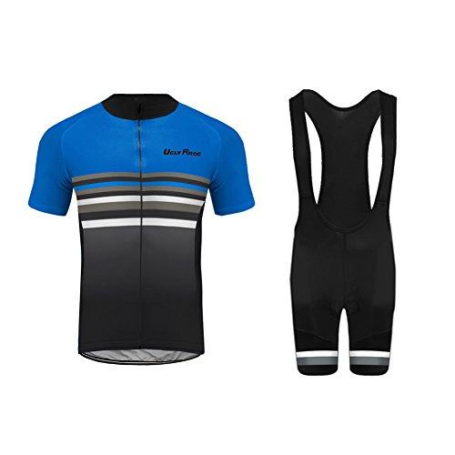Uglyfrog Maillot de Ciclismo y Pantalón Corto con Tirantes para Hombre DTMX03