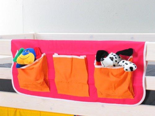 Unbekannt Thuka Stofftasche Hängetasche Organizer Aufbewahrung für Kinderbett Hochbett Bett pink