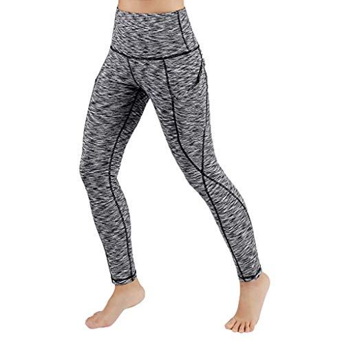 UOKNICE Yoga Pants for Womens, Running Sport Gym Stretch Workout Out Pocket Fitness Athletic Legging Trousers eomen Everlast Men Girls Grey 10-21 Green Kids high Waist Tummy