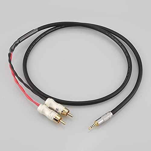 HiFi 2.5/3.5/4.4mm Macho equilibrado a 2 RCA Cable de Adaptador de Audio...