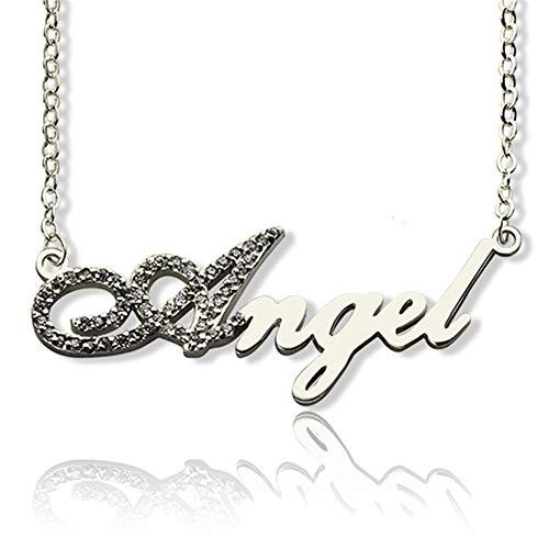 Collana con nome personalizzato in argento 925 placcato oro Rosa, oro, argento(Argento-20)